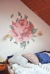 Декор стен в деревенским стиле