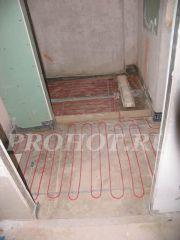 Электрический теплый пол в душевой